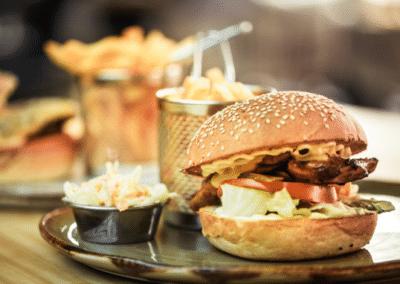 hamburger frites