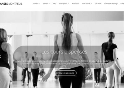 capture d'écran site web Danses Montreuil par plug and Pulse