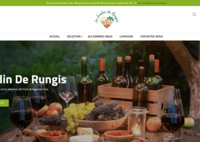 capture d'écran site web le jardin de Rungis par plug and Pulse