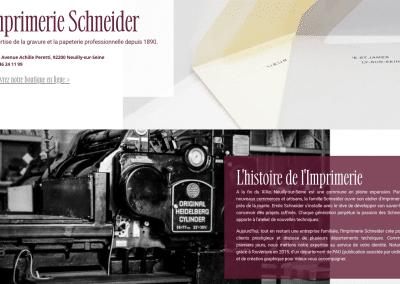 capture d'écran site web imprimerie schneider par plug and Pulse