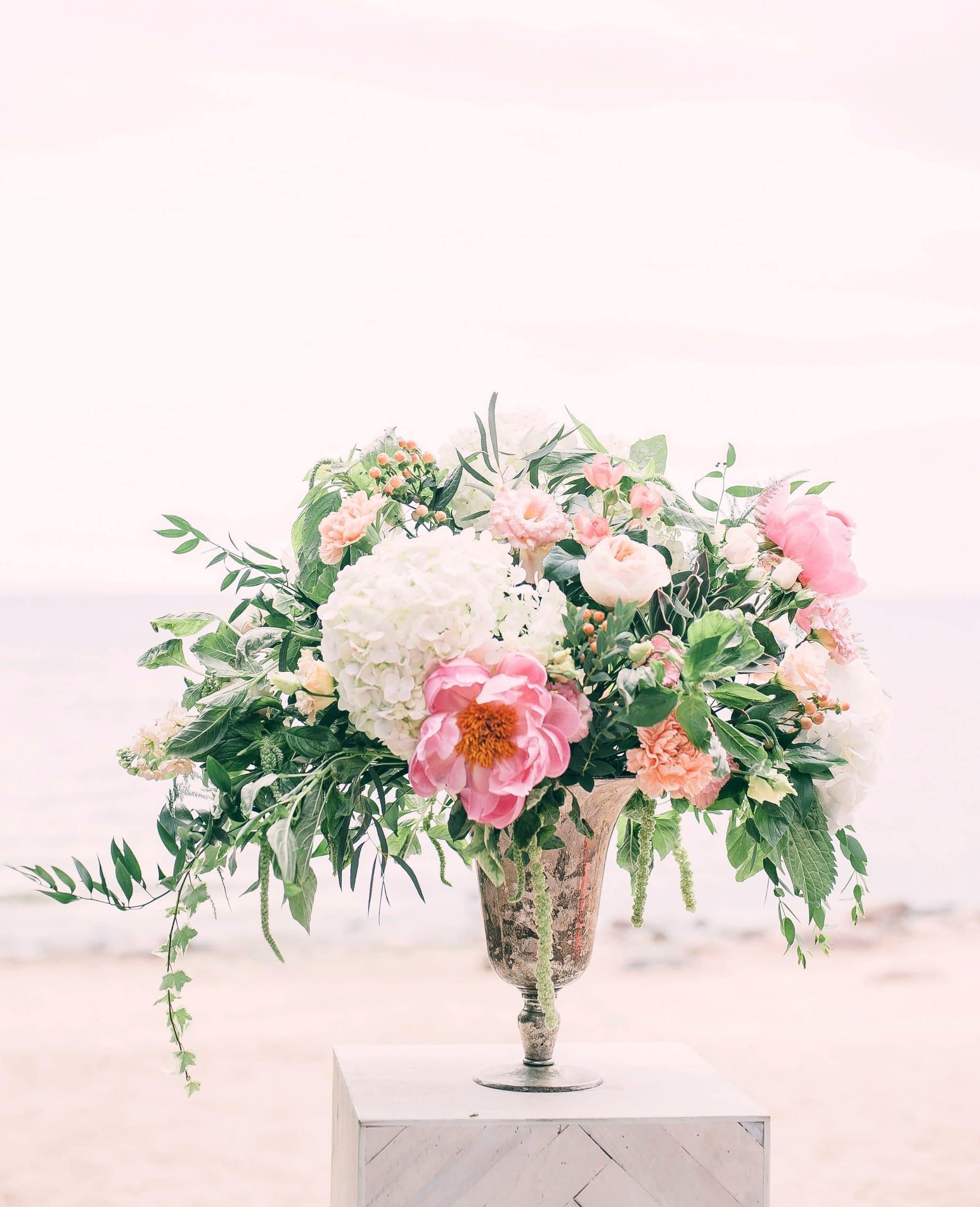 Plug and Pulse - Site fleuriste - bouquet rose et blanc