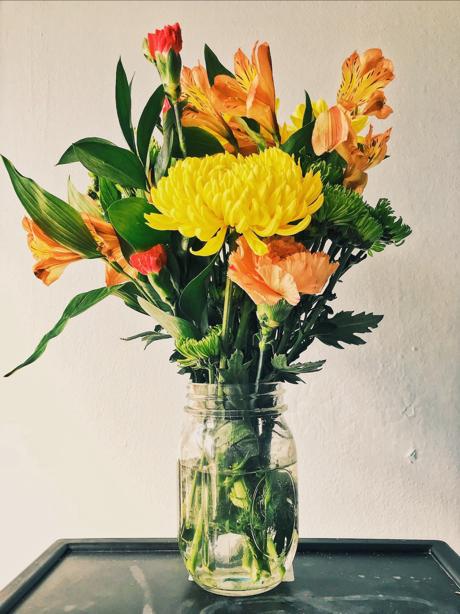 Plug and Pulse - Site fleuriste - bouquet jaune et orange