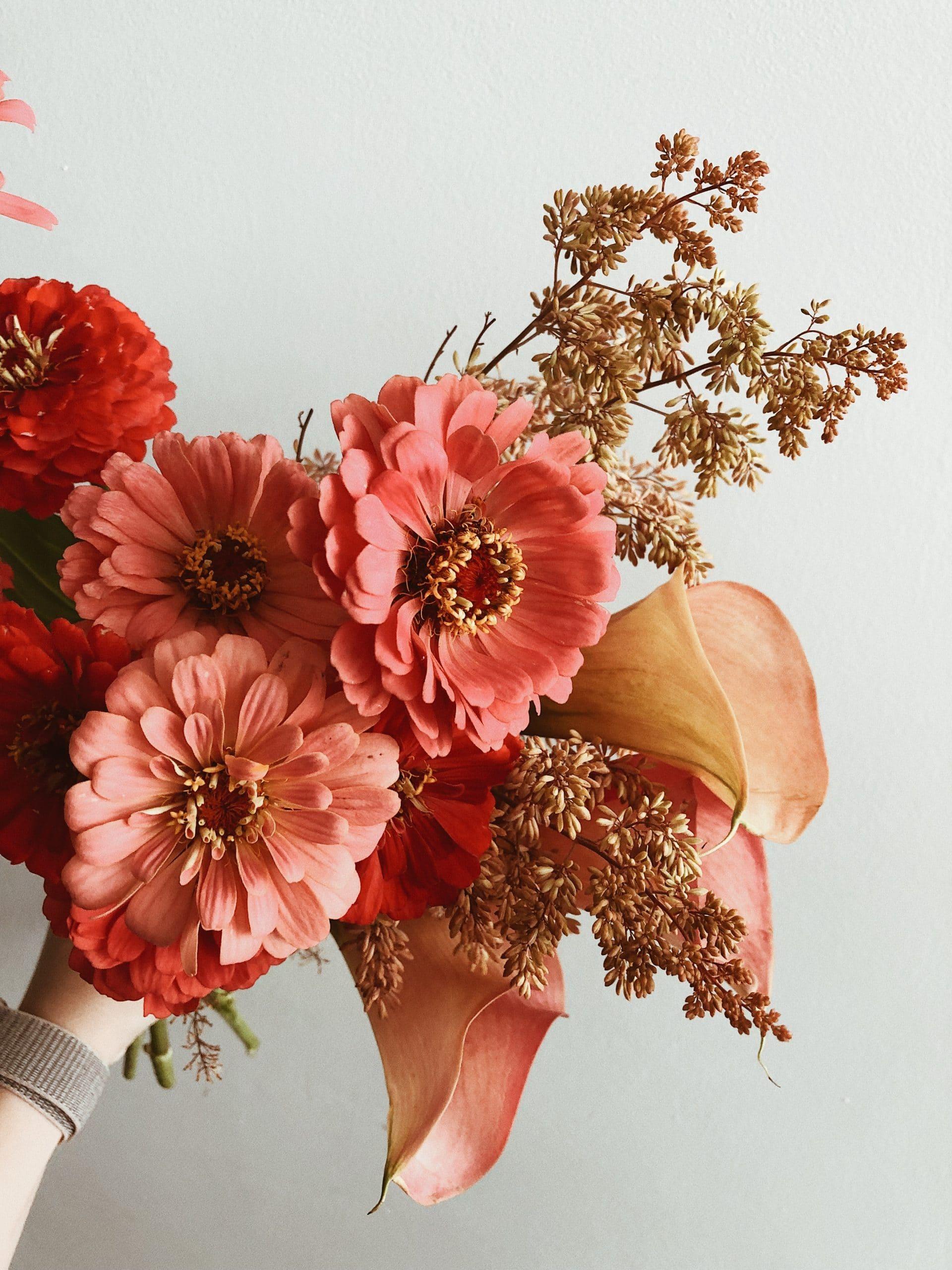 Plug and Pulse - Site fleuriste - bouquet rouge et rose