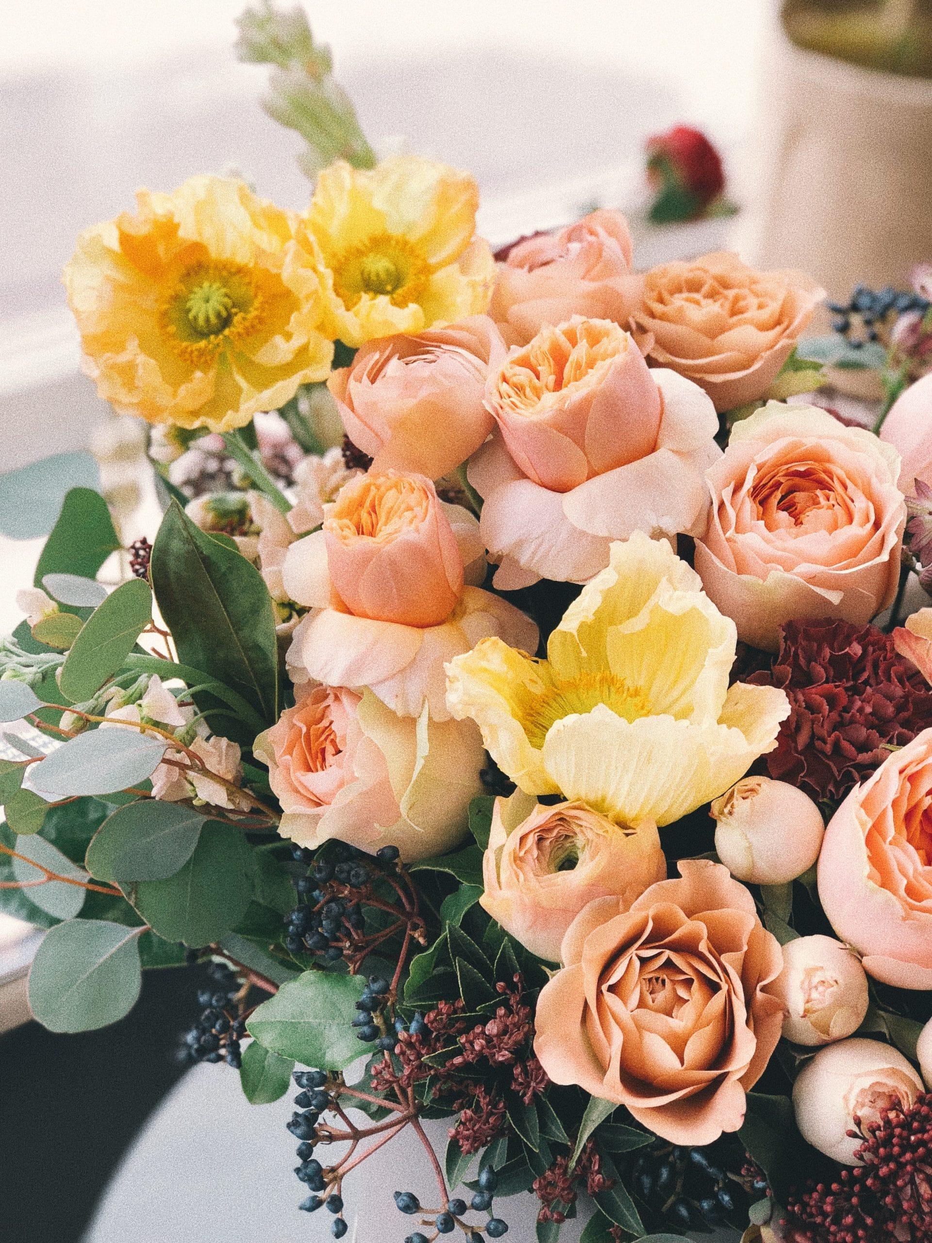 Plug and Pulse - Site fleuriste - bouquet jaune et beige