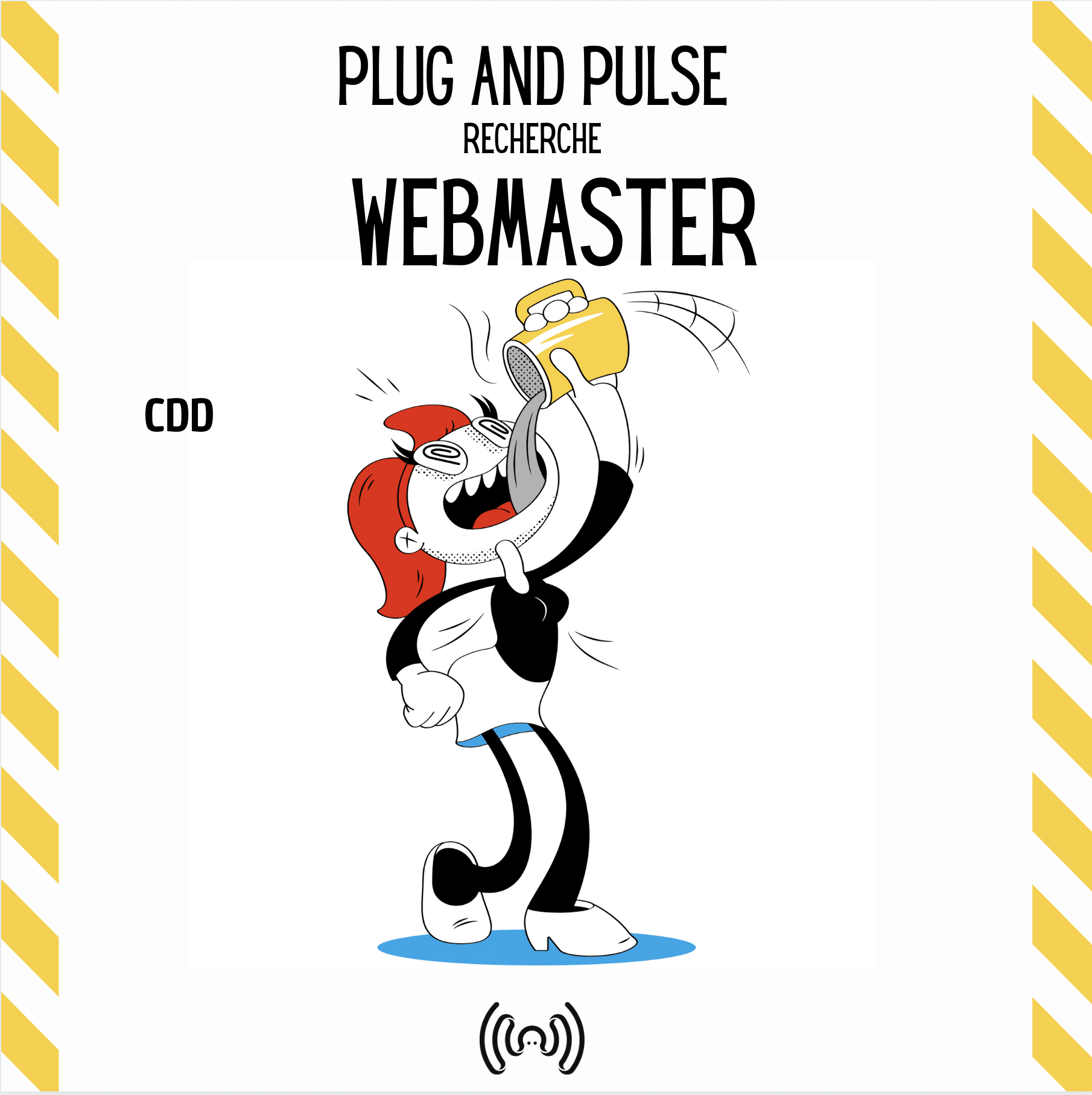 plug and pulse recherche webmaster CDD offre d'emploi